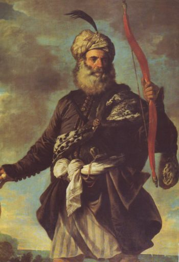 Barbary Pirate With A Bow | Mola | oil painting