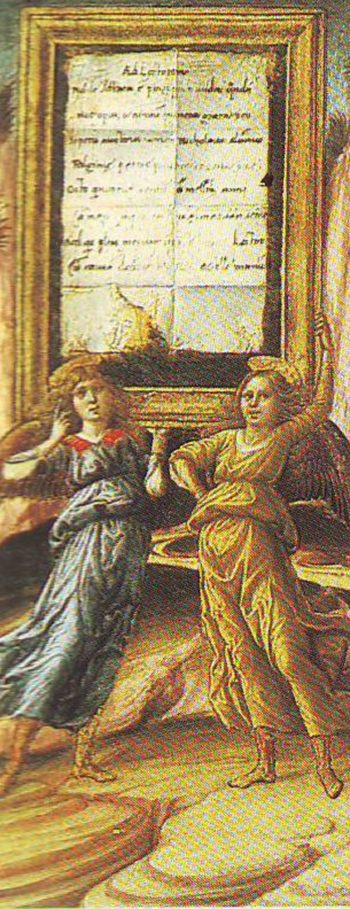 Two Angels Bearing A Tablet | Niccolo Da Foligno | oil painting