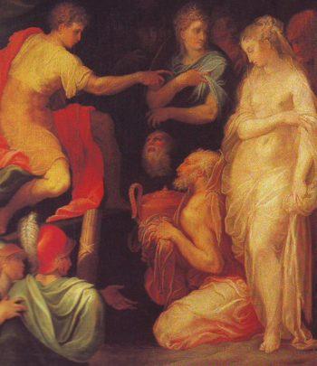 The Continence Of Scipio | Niccolo Dell Abbate | oil painting