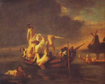 Boys Bathing | Nicolaes Maes | oil painting