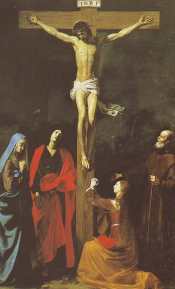 The Crucifixion With St Vincent De Paul | Nicolas Tournier | oil painting