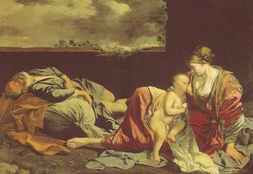 The Rest On The Flight Into Egypt | Orazio Gentileschi | oil painting