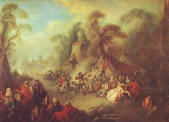A Country Festival With Soldiers Rejoicing | Pater | oil painting