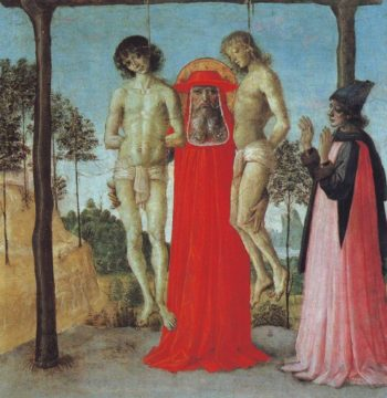 St Jerome Supporting Two Men On The Gallows | Perugino | oil painting