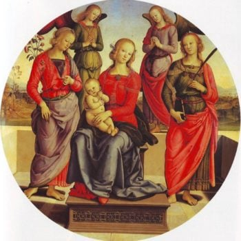 The Virgin And Child Surrounded By Two Angels St Rose And St Catherine | Perugino | oil painting