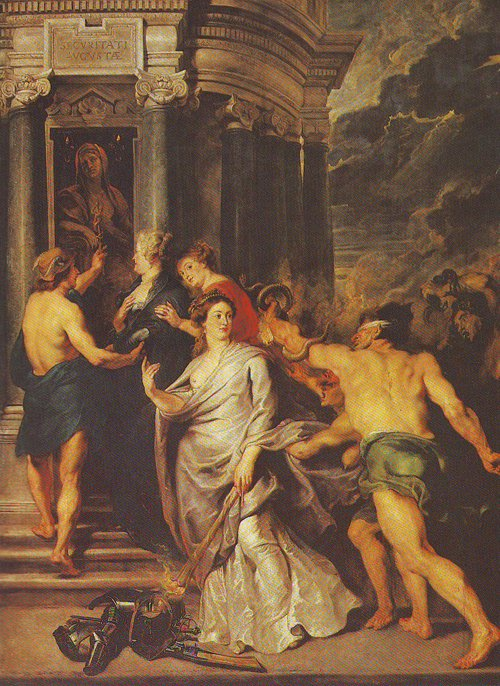 The Peace Of Angers   Peter Paul Rubens   oil painting