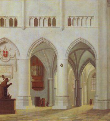 Interior Of The Church Of St Bavon At Haarlem | Pieter Jansz Saenredam | oil painting