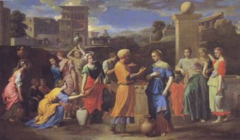 Eliezer And Rebecca | Poussin | oil painting
