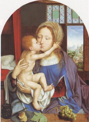 The Virgin And Child | Quentin Metsys | oil painting