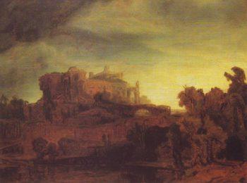 Landscpe With A Castle | Rembrandt | oil painting