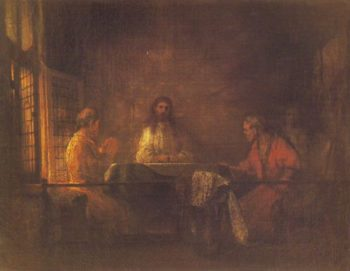 The Pilgrims At Emmaus | Rembrandt | oil painting
