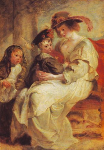 Helene Fourment And Her Children-Claire-Jeanne And Francois | Rubens | oil painting