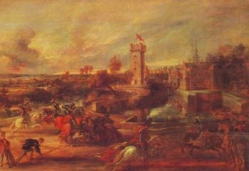 Tournament Near The Moat Of The Chateau Du Steen | Rubens | oil painting