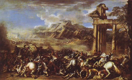 A Heroic Battle | Salvator Rosa | oil painting