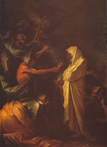 The Spirit Of Samuel Called Up Before Saul By The Witch Of Endor | Salvator Rosa | oil painting