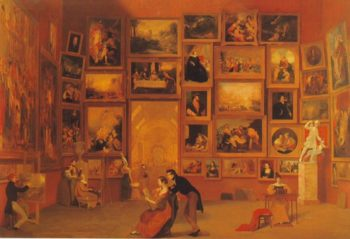 Gallery Of The Louvre | Samuel F.B.Morse | oil painting