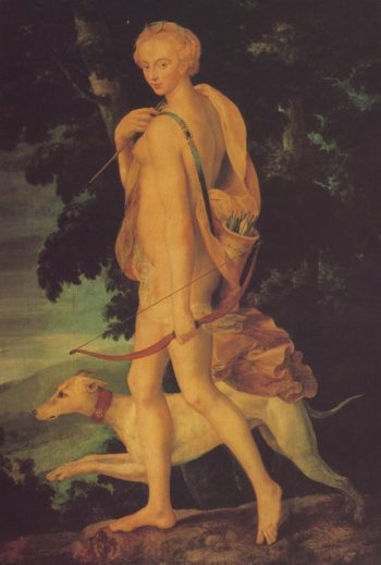 Diana The Huntress | School Of Fontainebleau | oil painting