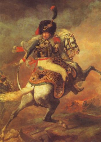 An Officer Of The Imperial Horse Guards Charging | Theodore Gericault | oil painting