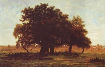 Group Of Oaks At Apremont In The Forest Of Fontainebleau | Theodore Rousseau | oil painting