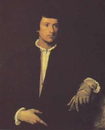 The Man With The Glove | Titian | oil painting