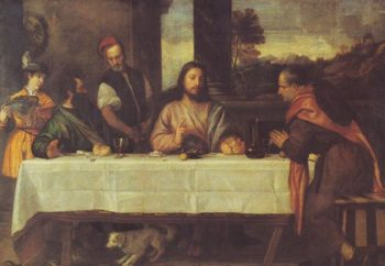 The Supper At Emmaus | Titian | oil painting