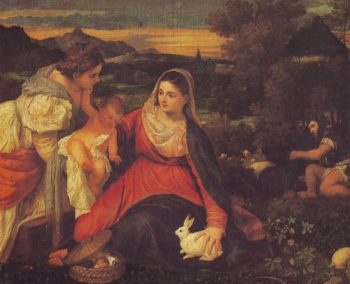 The Virgin With The Rabbit | Titian | oil painting