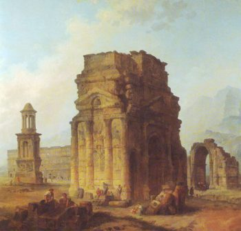 Triumphal Arch And Amphitheater At Orange | Unknown Artist | oil painting
