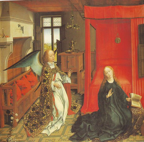 The Annunciation Central Panel Of A Triptych | Van Der Weyden | oil painting