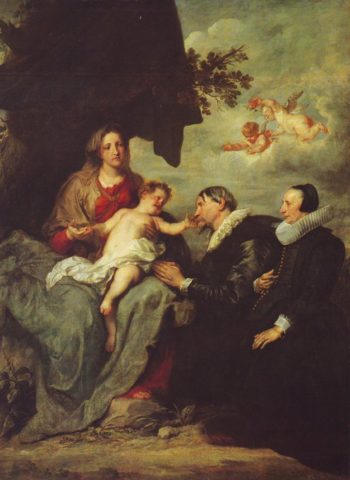 The Virgin And Child With Donors | Van Dyck | oil painting