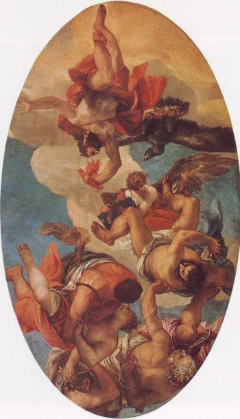 Jupiter Smiting The Vices | Veronese | oil painting