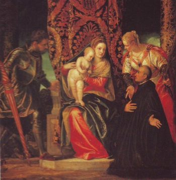 The Virgin And Child With Saints Justin And George And A Benedictine | Veronese | oil painting