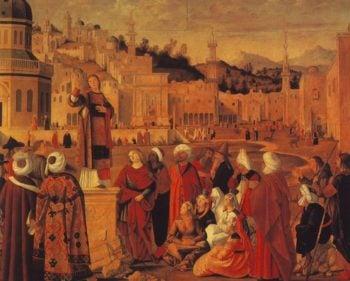 St Stephen Preaching At Jerusalem | Vittore Carpaccio | oil painting