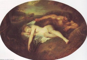 Jupiter And Antiope | Watteau | oil painting
