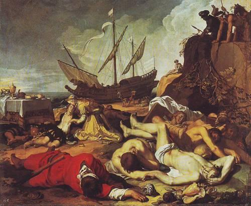 Charikleia And Theagenes | Abraham Bloemaert | oil painting