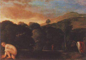 Nymph Fleeting Satyrs | Adam Elsheimer | oil painting