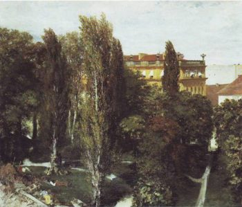 The Palace Garden Of Prince | Adolf Enzel | oil painting