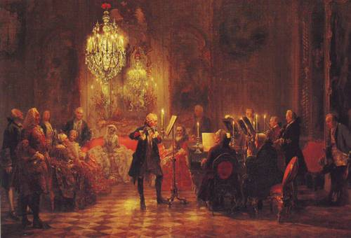 A Flute Concert Of Frederick The Great At Sanssouci | Adolf Menzel | oil painting