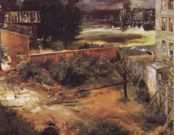 Rear Of House And Backyard | Adolf Menzel | oil painting