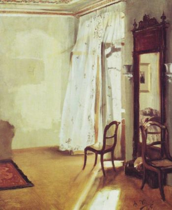 The Frenchwindow | Adolf Menzel | oil painting