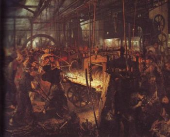 The Iron Rolling Works | Adolf Menzel | oil painting