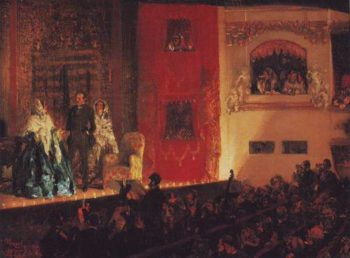 Theatre Du Gymnase | Adolf Menzel | oil painting