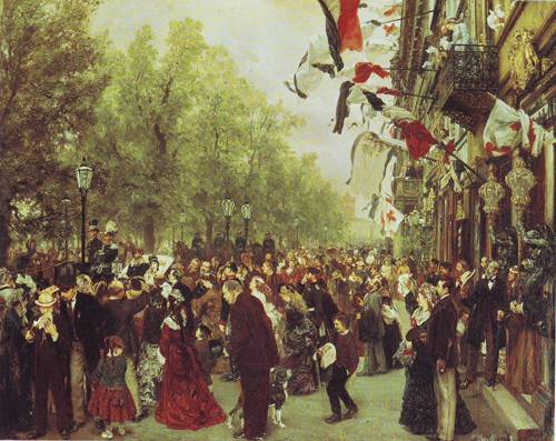 William I Departs For The Front | Adolf Menzel | oil painting