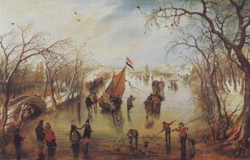 Winter | Adriaen Peitersz Van Der Venne | oil painting