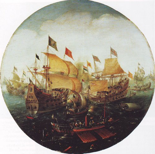 Battle At Sea | Aert Anthonisz | oil painting