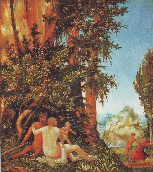 Landscape With Satyr Family   Albrecht Altdorfer   oil painting