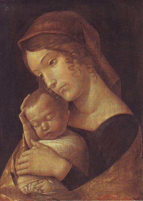 Madonna With Sleeping Child | Andrea Mantegna | oil painting