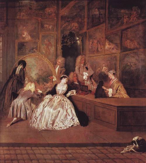 Enseigne De Gersaint | Antoie Watteau | oil painting