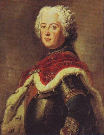 Frederick The Great As Crown Pringce | Antoine Pesne | oil painting