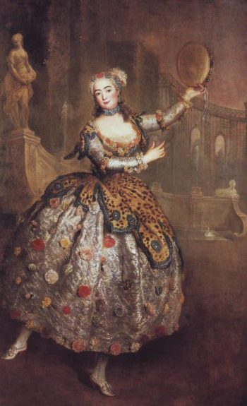 The Dancer Barbara Campanini | Antoine Pesne | oil painting