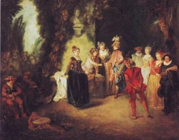 Love In The French Theater | Antoine Watteau | oil painting
